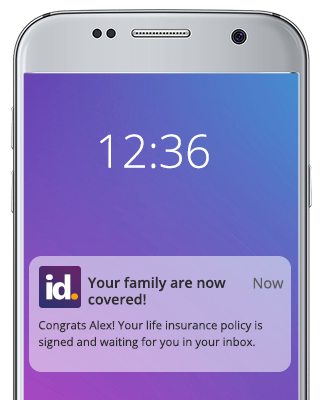 Good example of an insurance mobile push