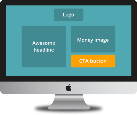After - clean, clear, CTA and product image are clearly visible above-the-fold