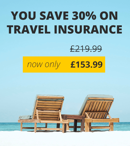 Holiday insurance - with special offer