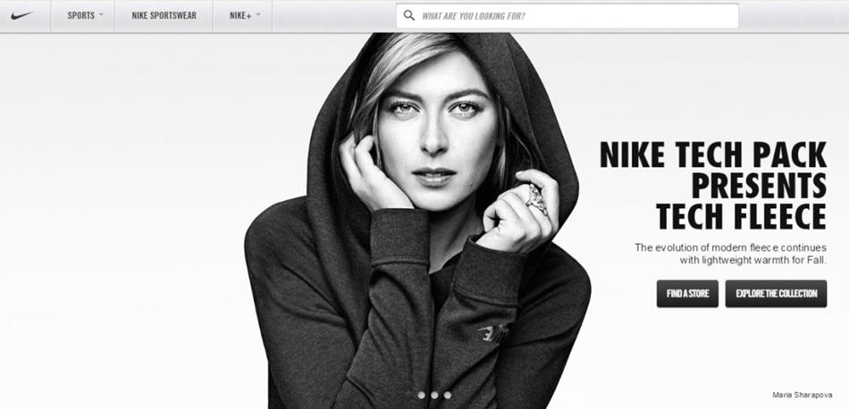 Maria Sharapova endorsing a product