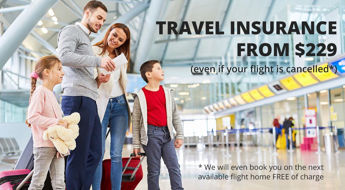 Travel insurance landing page guarantees